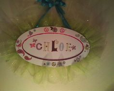 Ruffled / name wall plaque.