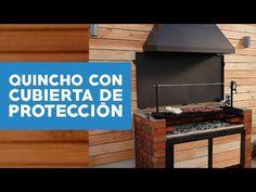 ¿Cómo hacer un quincho con cubierta de protección? - YouTube