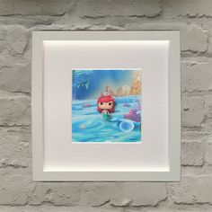 Disney The Little Mermaid Inspired Ariel by BenjoCreations The Little Mermaid, 3 D, Easter, Ariel, Unique Jewelry, Disney, Frame, Handmade Gifts, Inspiration