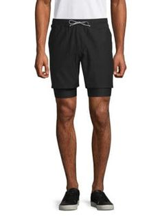 67a40c30f39ef RON DORFF Layered Running Shorts. #rondorff #cloth. ModeSens Men