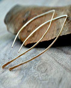 Open Hoop Earrings, classic minimalist hoops – tiffanyannestudios