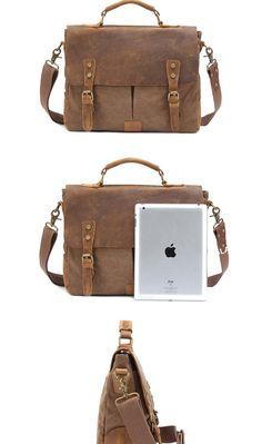 Canvas Shoulder Messenger Laptop Bag df39116f3a319