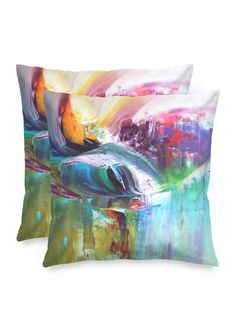 Spring 15 - Square Pillow by Eliora BOUSQUET Red Pillows, Accent Pillows, Black Garden, Black Mountain, Sound & Vision, Decoration, Pillow Covers, Creations, Abstract