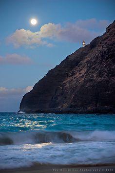 Makapu'u Super Harvest Moonrise, Hawaii.