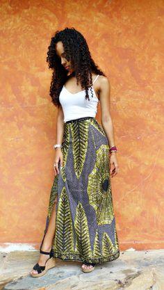 anuhmi.wordpress.com, diy, do it yourself, wrap skirt, ankara print, african print.