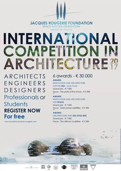 Poster of the 7th edition of the International competition in Architecture of the Jacques Rougerie Foundation