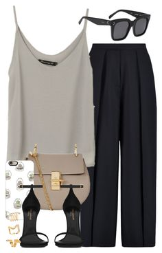 """""""Sin título #3723"""" by hellomissapple ❤ liked on Polyvore featuring Iris & Ink, CÉLINE, Chloé, Casetify, Yves Saint Laurent and Forever 21"""
