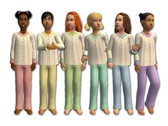 Mod The Sims - The Pajama Posse - Sleepwear for Kids