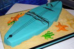 """Hey dude, surf's up . no kiddin' man. Is it really my birthday? Surfboard Cake, Surf Cake, Football Birthday Cake, Birthday Cakes, Birthday Ideas, Party Party, Party Time, Party Ideas, Kayak Cake"