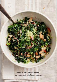 Kale Salad w/ Avocado Tahini Sauce Recipe - Love and Lemons