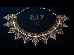 Колье из бисера и бусин. Мастер-класс.Бисероплетение. Necklace from beads. Master class - YouTube
