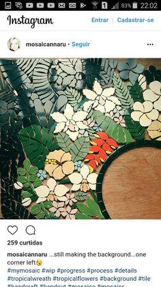 Mosaic Stepping Stones, Stone Mosaic, Mosaic Glass, Glass Art, Tile Crafts, Mosaic Crafts, Mosaic Projects, Mosaic Artwork, Mosaic Wall