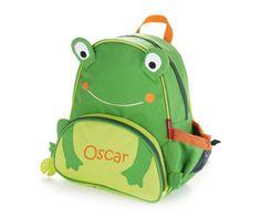 Personalisable Zoo Frog Rucksack