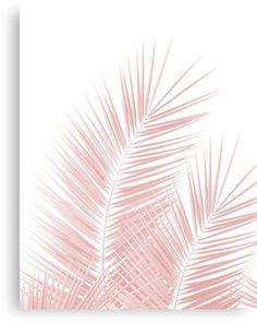 'Blush Pink Palm Leaves Dream – Cali Summer Vibes ' Canvas Print by anitabellajantz - Chic Decor 4 Blush Pink Wallpaper, Frühling Wallpaper, Iphone Background Wallpaper, Aesthetic Pastel Wallpaper, Pink Aesthetic, Aesthetic Wallpapers, Canvas Background, Tropical Interior, Tropical Home Decor