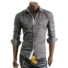 Doublju Mens Casual Slim Dress Shirts(HC908) $20.99