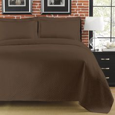 LaMont Home Diamante Collection – Cotton Matelassé Coverlet (Full - Queen), Brown Timeless Elegance, Simple Elegance, Elegant, King Size Coverlets, Classic Bedding, Queen, Bed Sizes, Bedding Collections, Bed Spreads
