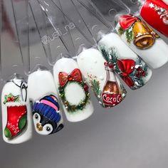 20 Adorable Toe Nail Art Inspirations – My hair and beauty New Years Nail Designs, Christmas Nail Art Designs, Holiday Nail Art, Winter Nail Designs, Cute Christmas Nails, Xmas Nails, Nail Art Noel, Winter Nails 2019, Nails For Kids