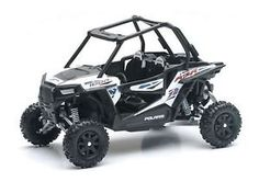 New Ray Toys 1:18 Scale ATV – Polaris RZR 1000 57593  Licensed die-cast replicas Window style box for display Some team sponsors may change therefore image could vary slightly in appearance Approximately 9 inches long Licensed die-cast replicas  http://www.newmotorcyclestore.com/new-ray-toys-118-scale-atv-polaris-rzr-1000-57593/