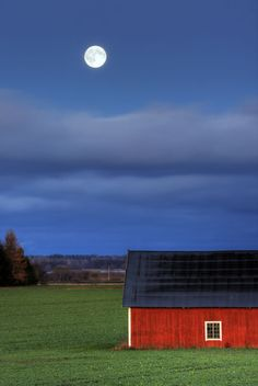 The Same Moon -- Linkoping, Östergötland, Sweden Sweden Cities, Red Houses, Look At The Moon, Scandinavian Countries, Sweden Travel, Travel Memories, Vintage Travel Posters, Photo Colour, Rocky Mountains
