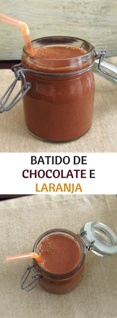 Batido de chocolate e laranja | Food From Portugal. Este batido de chocolate e laranja é uma excelente opção numa tarde quente de Verão! Rápido, simples, delicioso e bastante refrescante… #bebida #chocolate #laranja #receita