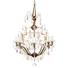 Viola Chandelier 8 Arm ($2,720) ❤ liked on Polyvore featuring home, lighting, ceiling lights, amethyst lamp, euro lighting, 8 arm chandelier, european chandelier and euro light