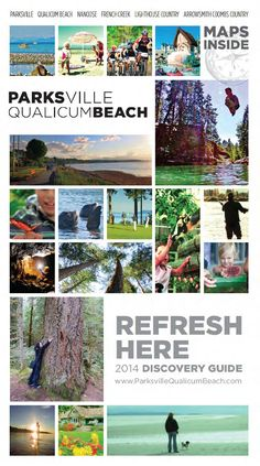 2014 Parksville Qualicum Beach Discovery Guide by Blain Sepos - issuu Vancouver City, Vancouver Island, Get Away Today, California Camping, Southern California, Best Places To Travel, Canada Travel, Island Life, Vacation Trips