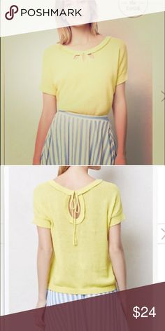 Anthropologie sweater ruffle top Excellent condition, no stains or any wear signs. Beautiful. Anthropologie Tops