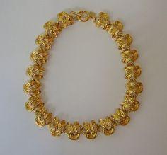 Knotty. Knotical. Vintage Chunky Gold Knot Necklace by ZacariPiper on Etsy, $30.00