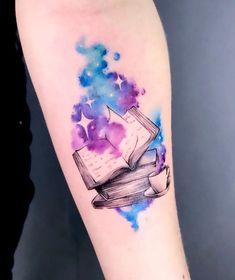 #Books #Choices #Good #Love #Story #Tattoo - Tatuagem de livros: 75 opções para quem ama uma boa história Tattoo Books: 75 Choices for Those Who Love a Good Story