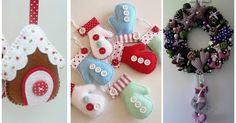 Moldes para hacer bonitos adornos navideños en fieltro Winter Christmas, Christmas Crafts, Xmas, Christmas Ornaments, Decor Crafts, Holiday Decor, Decorations, Activities For Kids, Holiday Ornaments
