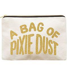 ALPHABET BAGS Pixie Dust canvas pouch