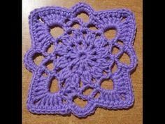 """Tutorial piastrella all'uncinetto """"Stargate"""" - azulejo crochet - square tile crochet - YouTube"""