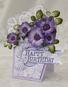 Birthday Flower Pot by Veritycards - Cards and Paper Crafts at Splitcoaststampers