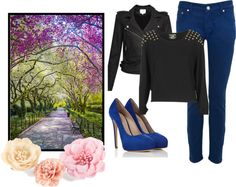 """Blue and Black"" by flop-1 on Polyvore"