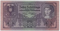 Austria Österreich 10 Schilling 1925 Pick Very nice banknote Heart Of Europe, Portrait, Austria, Personalized Items, History, Banknote, Notes, Stamps, Money