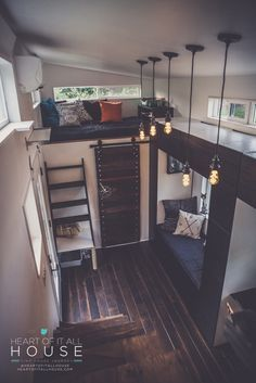 Best tiny house yet! This home and its inspiration home listed are amazing. Heart of It All House: 224 Sq. Ft. Tiny hOMe