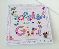 Birthday Card,Greeting Card,'Special Little Girl',Handmade,Personalised  £1.95