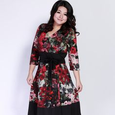 Big Size Dress New Fashion 2012 Sleeveless Dresses With Belt,Print Flower Dress Top Pleated V Neck Ruffles Dress Summer Discount-in Dresses from Apparel & Accessories on Aliexpress.com