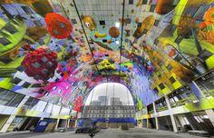 Het grootste kunstwerk van Nederland is te zien in de Markthal in Rotterdam