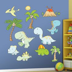 Baby Dinosaurs REAL.BIG. Fathead – Peel & Stick Wall Graphic | Dinosaur Wall Decal | Nursery Decor | Playroom/Bedroom