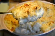 Baked Mashed Potatoes with Parmesan Cheese  Crumbs