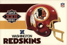 washington redskins super bowl | Super Bowl XXII Washington Redskins Football Postcard Redskins Football, Sport Football, Football Helmets, Redskins Super Bowl, Kirk Cousins, Cincinnati Bengals, Washington Redskins, Nfl, Sports