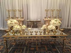 Gorgeous table for groom and bride