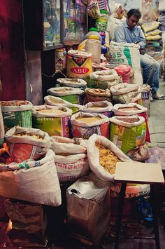 Spices at Night Market in Pink City, Jaipur  NEED TO GO BACK TO JAIPUR. MISSED THE NIGHT MARKET