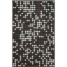 Safavieh Soho Collection SOH726A Handmade Black and White New Zealand Wool Square Area Rug, 6-Feet
