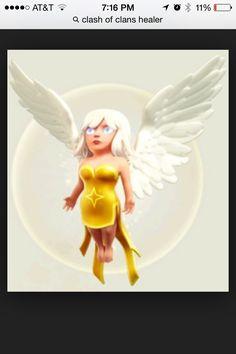 Clash of Clans Healer Clash Of Clans App, Clash On, Three Best Friends, Barbarian, Goblin, Best Games, Healer, Tinkerbell, Game Art