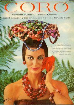 Coro jewelry ad ''Tahiti Colors''
