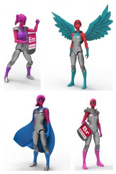 I Am Elemental action figures for girls featuring traits that every girl has within her: Best toys of 2014