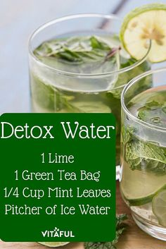 Green Tea Detox Water Recipe For Weight Loss | Detox Drinks |