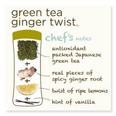 Argo Tea :: Green Tea Ginger Twist :: totally helped my tummy ache tonight!